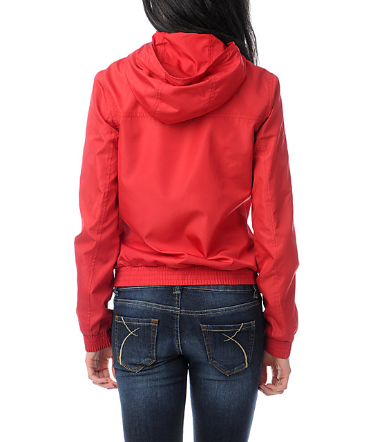 Zine Jester Red Windbreaker Jacket