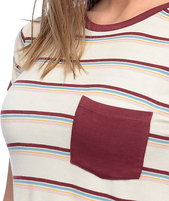 Zine Lambert Striped Ringer Pocket T-Shirt