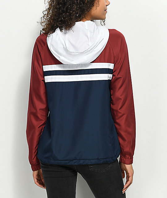 Zine Marina Red, White & Blue Windbreaker Jacket