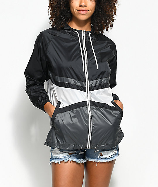 Zine Marla Black, White & Grey Windbreaker Jacket