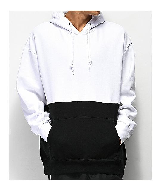 725edb07c5e70 Zine Mass White   Black Hoodie