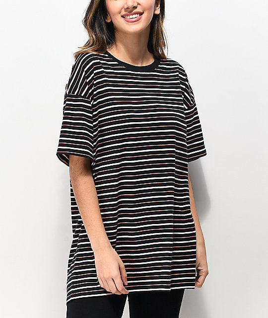 Zine Maya Black & Pink Stripe T-Shirt