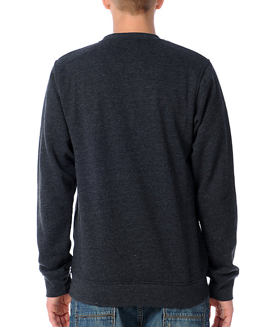 Zine Mens Cruiser Charcoal Crew Sweatshirt