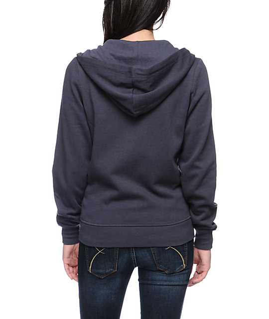Zine Nine Iron Grey Zip Up Hoodie
