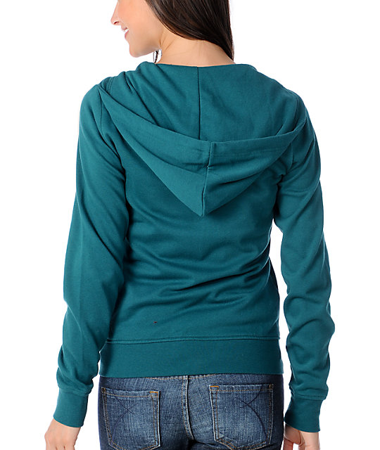 Zine Pacific Teal Zip Up Hoodie