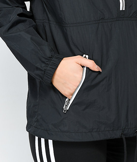 Zine Paola Black Anorak Windbreaker Jacket