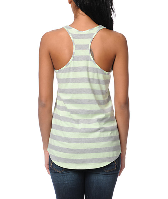 Zine Patina Green Stripe Tank Top
