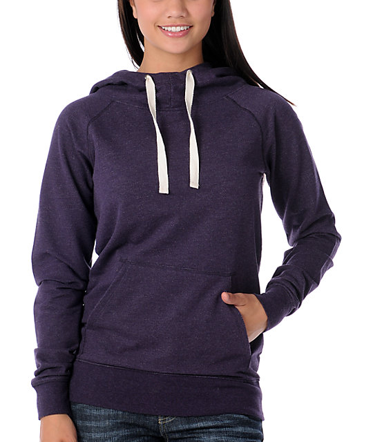 Zine Purple Hooded Pullover Sweatshirt