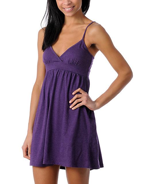 Zine Purple Tank Top Dress Cover Up ...