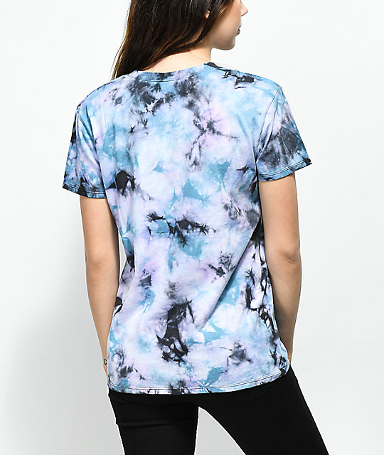 Zine Rayna Blue, Black & Purple Tie Dye T-Shirt