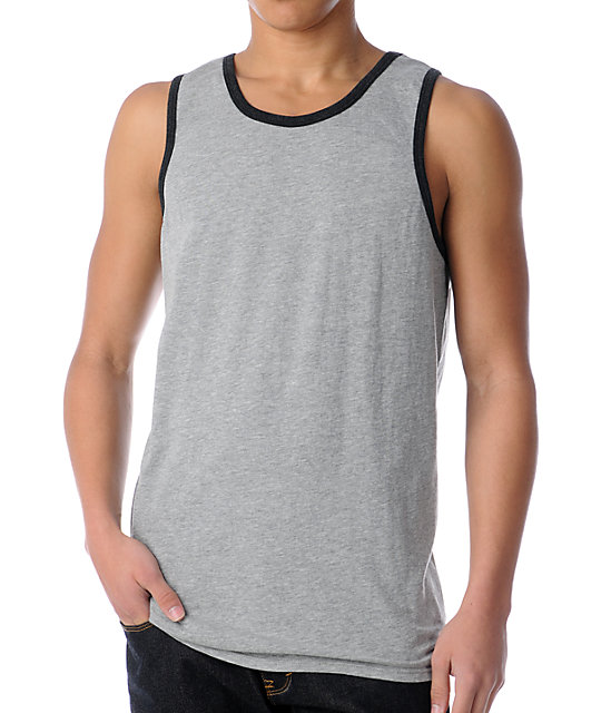 Zine Ringer Grey Tank Top