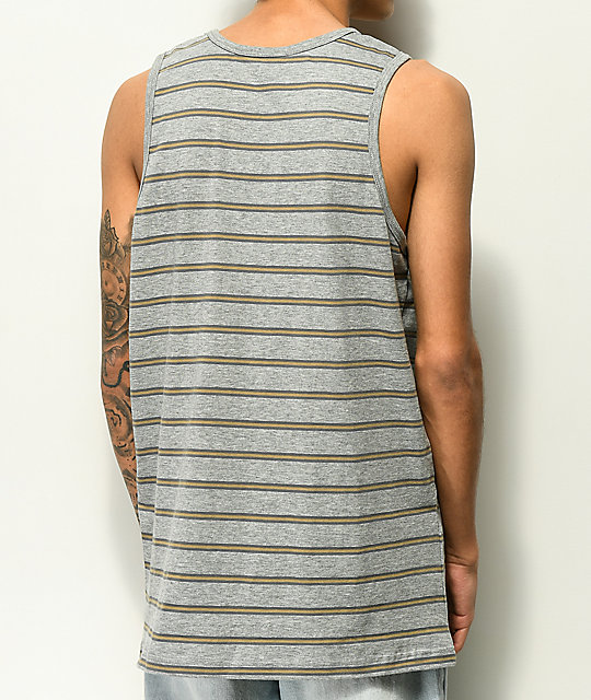 Zine Rounder Striped Grey Tank Top