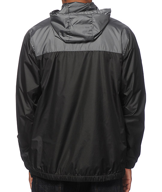 Zine Sprint Black & Charcoal Windbreaker Jacket