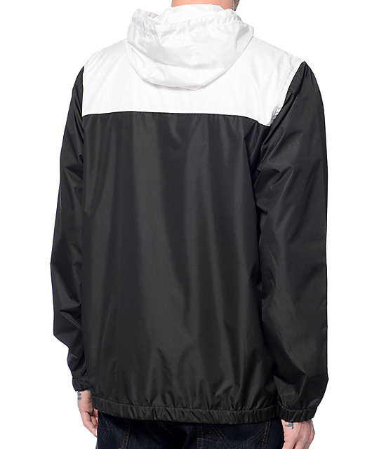 Zine Sprint White & Black Windbreaker Jacket