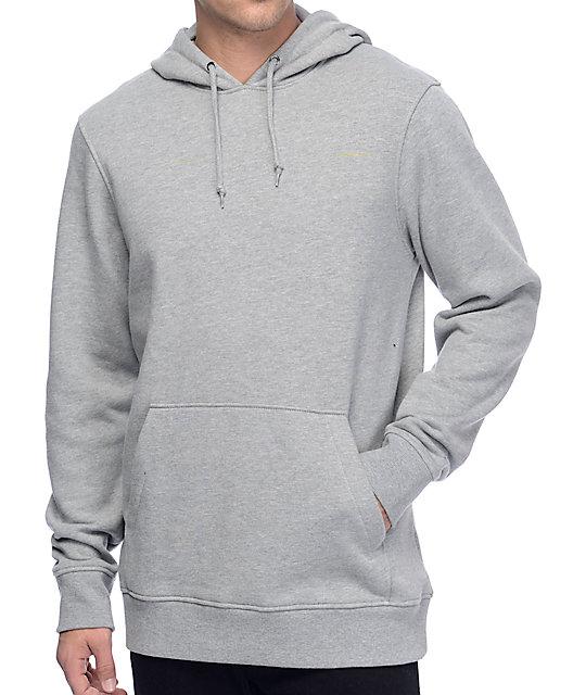 Zine Standard Fleece Heather Grey Pullover Hoodie