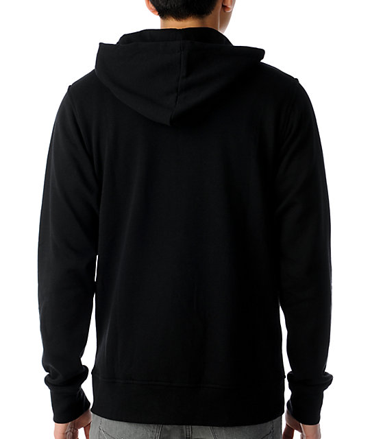 zine template black solid hoodie zumiez