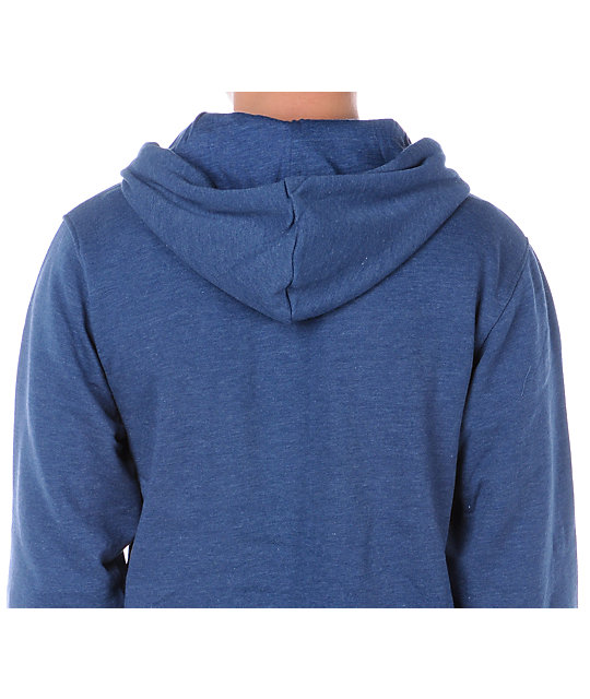 Zine Template Heather Blue Hoodie