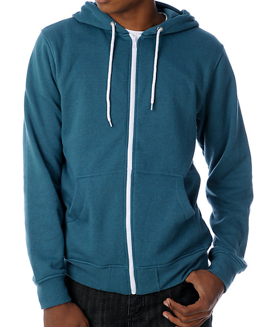 Zine Template Heather Dusk Blue Hoodie