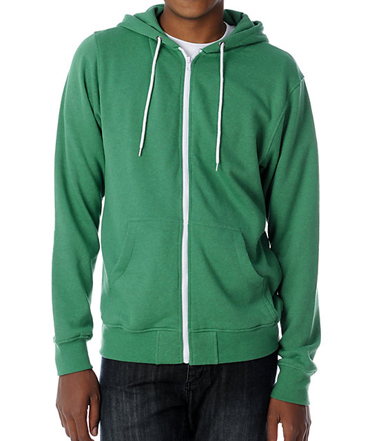 Zine Template Heather Green Hoodie