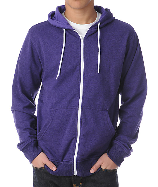 Zine Template Purple Speckle Zip Up Hoodie