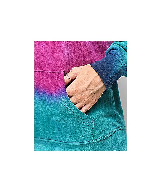bcdbecaf1291 Zine Tera Navy Blue & Purple Tie Dye Hoodie   Zumiez
