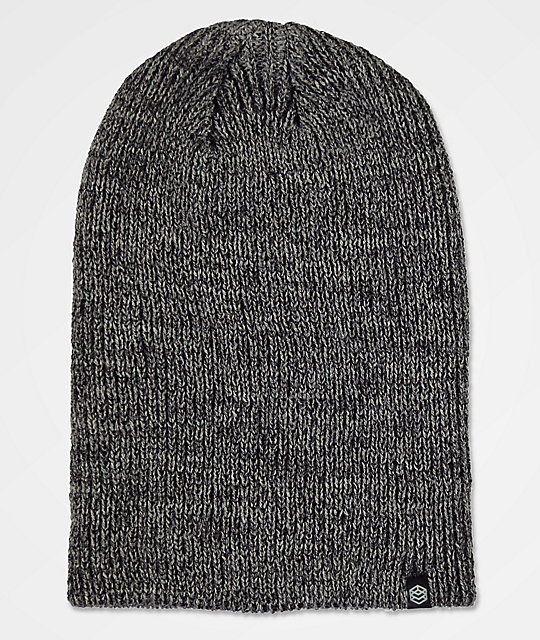 7e2c596464c Zine Toque Black Heather Slouch Beanie