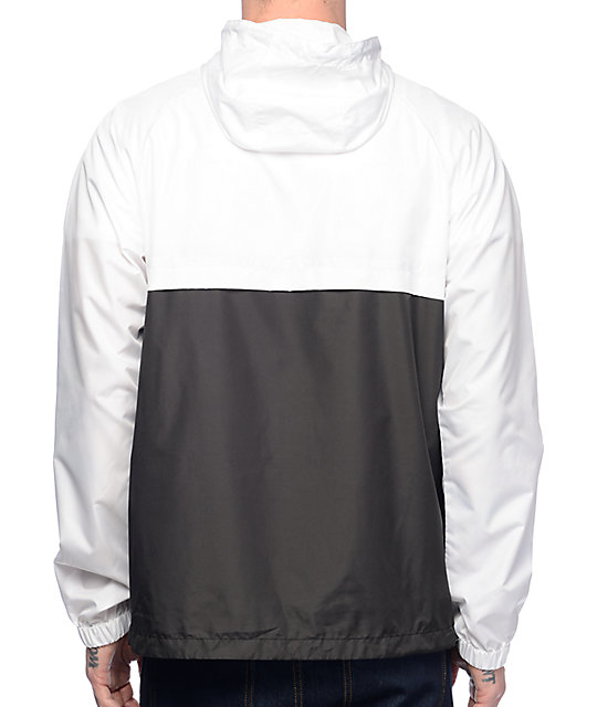 Zine Unlimited White & Black Anorak Windbreaker Jacket Item #  267629