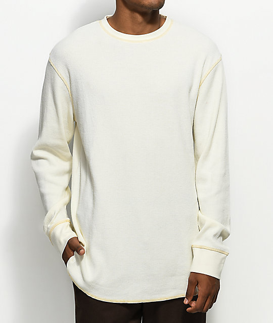 7cd51c74 Zine Waffle Knit Birch Long Sleeve Thermal
