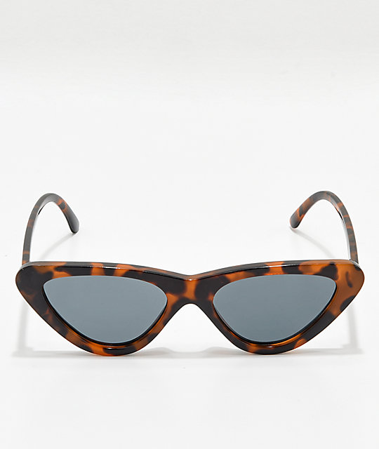 Zoe Tortoise Tinted Cat Eye Sunglasses
