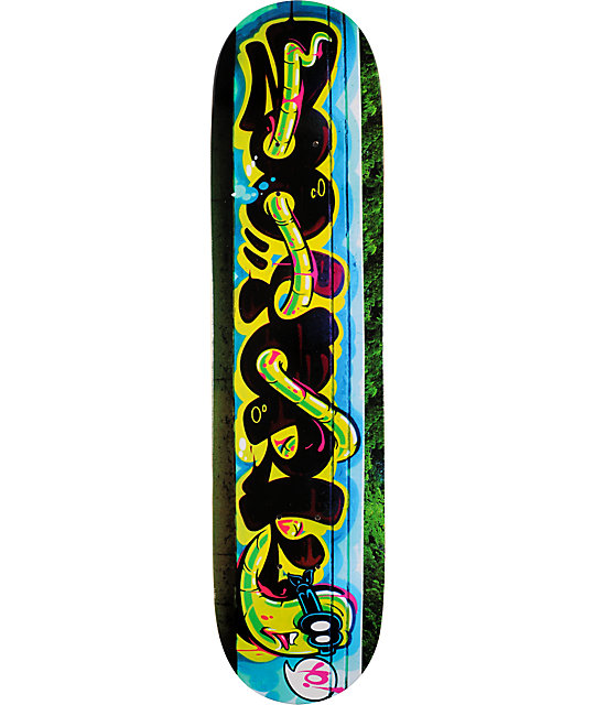 "Zoo York Bassett Rime 7.6""  Skateboard Deck"