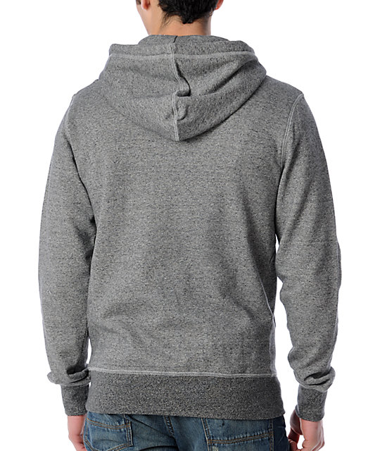 Zoo York Straight Core Grey Zip Up Hoodie