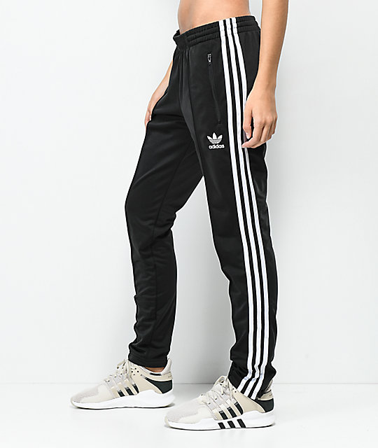 f4279135c507 ... adidas 3 Stripe Black Track Pants ...