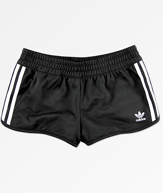 adidas 3 Stripe Black Track Shorts