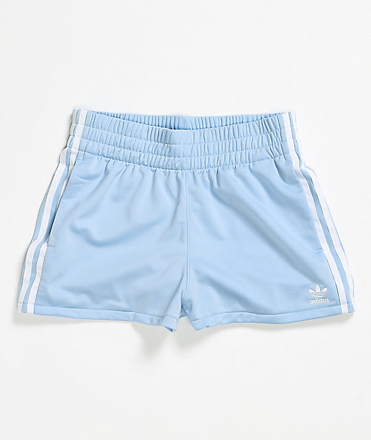 adidas 3 Stripe Blue Track Shorts