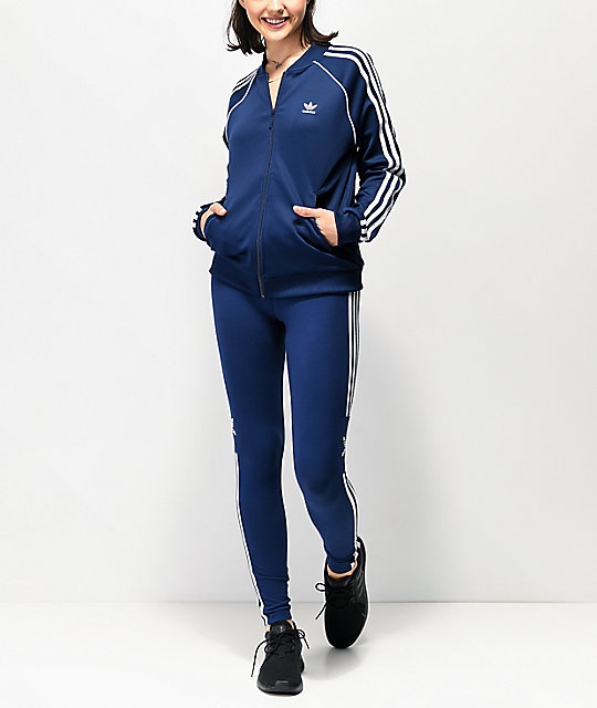 adidas 3-Stripe Collegiate Dark Blue Track Jacket