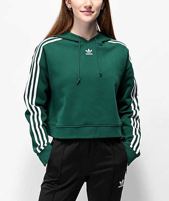 Emerald Green Cropped Hoodie - View All - Sale - Miss ...  Green Cropped Hoodie