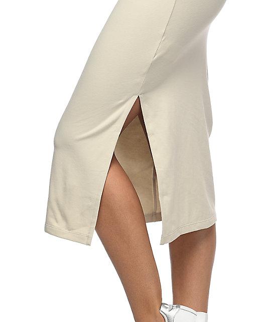 5e59392e74 ... adidas 3 Stripe Khaki Midi Dress