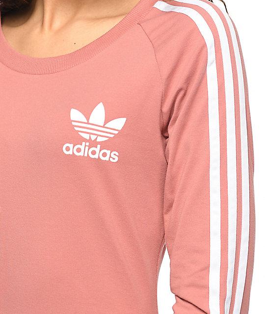 5a05a99237 ... adidas 3 Stripe Mauve Midi Dress ...