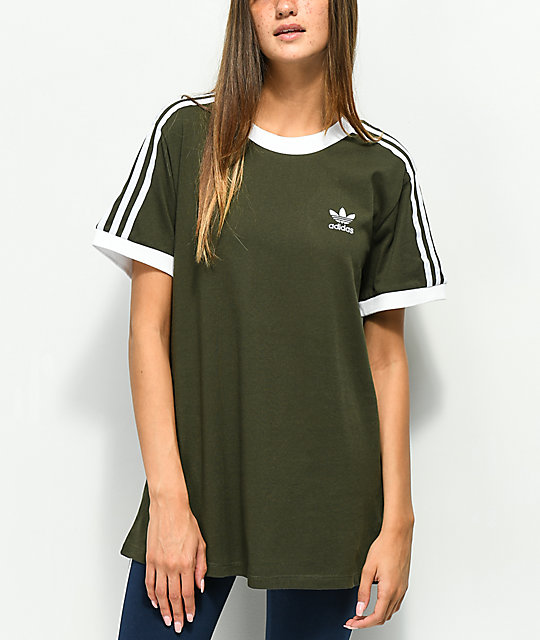 adidas 3 Stripe Night Cargo T-Shirt
