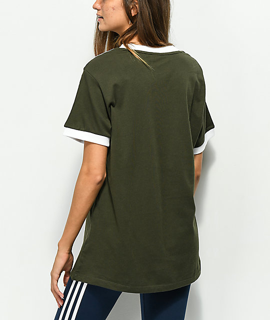 adidas 3 Stripe Night Cargo camiseta verde