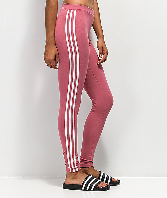 adidas 3 Stripe Pink Leggings
