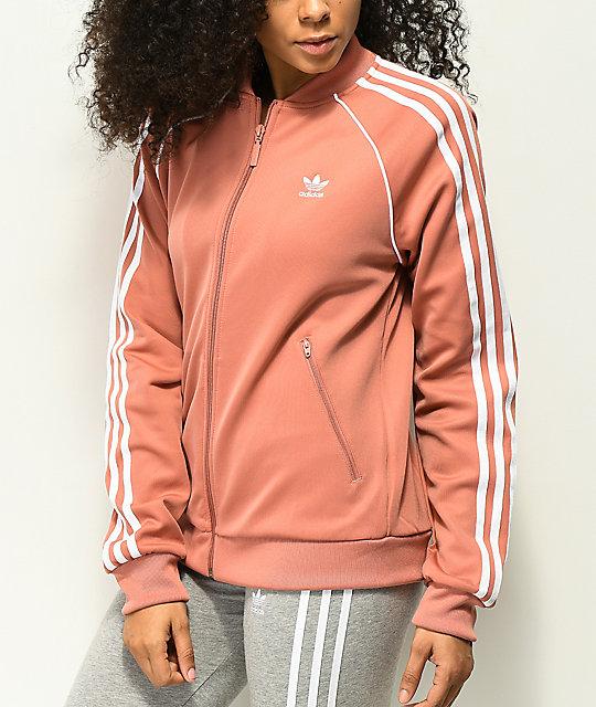 adidas 3 Stripe Pink Track Jacket