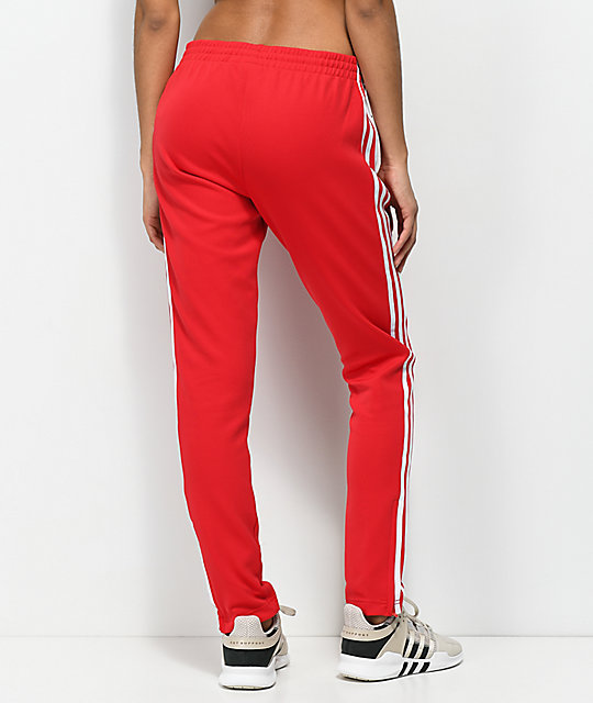 Stripe Track 3 Zumiez Pants Red Adidas FqPHw