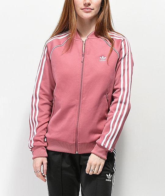 Zumiez Rosa Stripe 3 Chándal Adidas Chaqueta De SqTwcYv