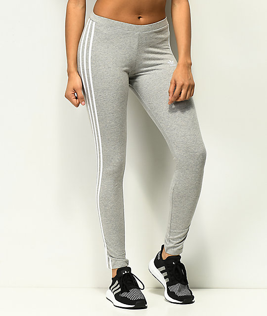 adidas 3 Stripe leggings grises