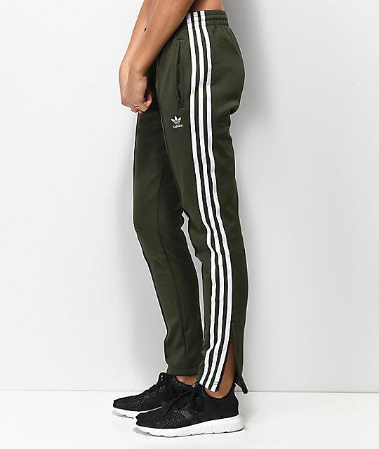 Adidas 3 Stripe Pantalones Chándal De Verdes Zumiez RRg7q