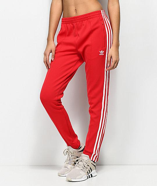 pantalon chandal adidas rojo e2b241b8f4b9