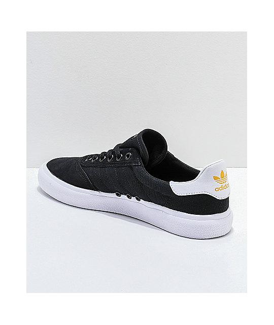 buy online 81c19 cf98a ... adidas 3MC Black, Gold  White Shoes ...