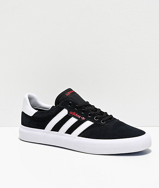 Adidas 3 Mc Black, White, Red & Blue Shoes by Adidas