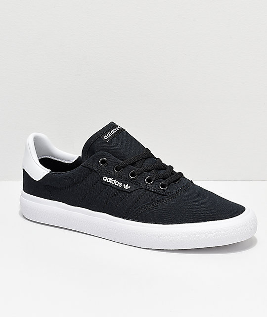 adidas 3MC Black   White Canvas Shoes  112de4fa1